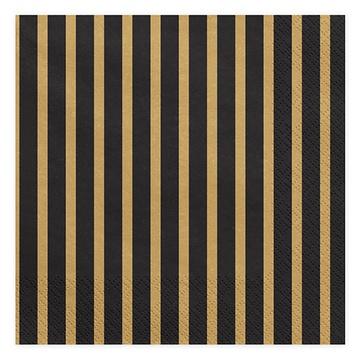 Салфетка 33 см Black&Gold Линии 20 штук