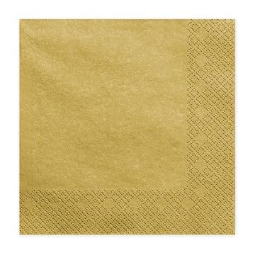 Салфетка 33 см Gold 20 штук
