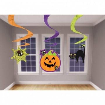 Спираль веселый Halloween 3 штуки