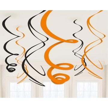 Спираль Black Orange Черный и Оранжевый 55 см 6 штук
