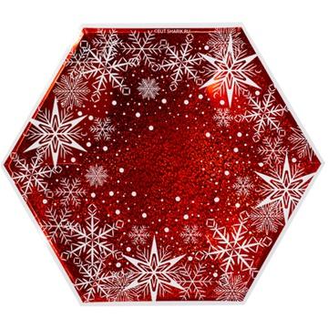 Тарелка фигурная 25 см Снежные Искры 6 штук
