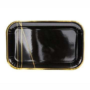 Тарелка 13,5 х 22 см Black&Gold Искры 6 штук