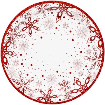 Тарелка 17 см Снежные Искры 6 штук