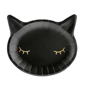 Тарелка 22 см Кошка черная 6 штук