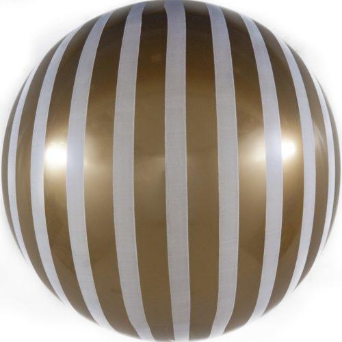 Шар 46 см Сфера 3D Белые полосы Золото
