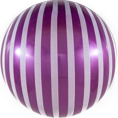 Шар 46 см Сфера 3D Белые полосы Фуше