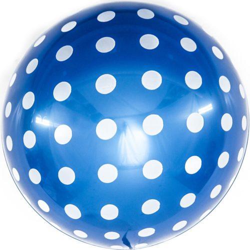 Шар 46 см Сфера 3D Белые точки Синий