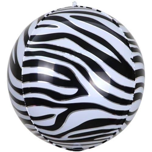 Шар 56 см Сфера 3D Анималистика Пятнистый окрас Зебра