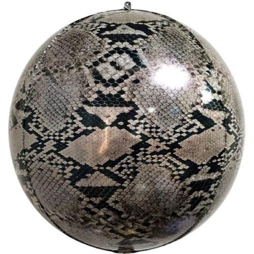 Шар 56 см Сфера 3D Анималистика Пятнистый окрас Змея