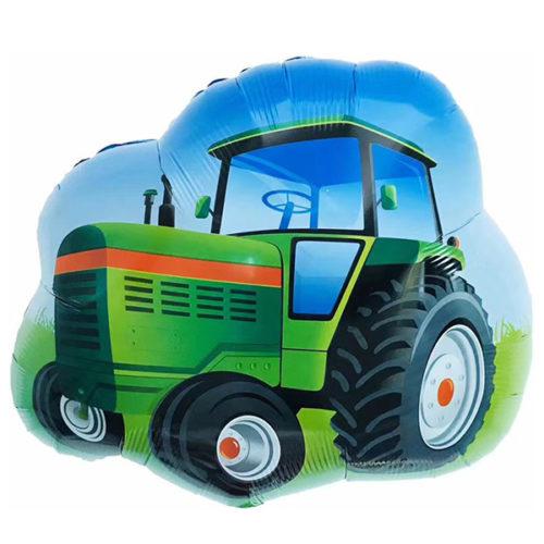 Шар 66 см Фигура Трактор Зеленый