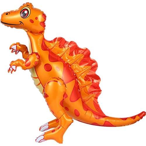 Шар 76 см Ходячая Фигура Динозавр Спинозавр Оранжевый
