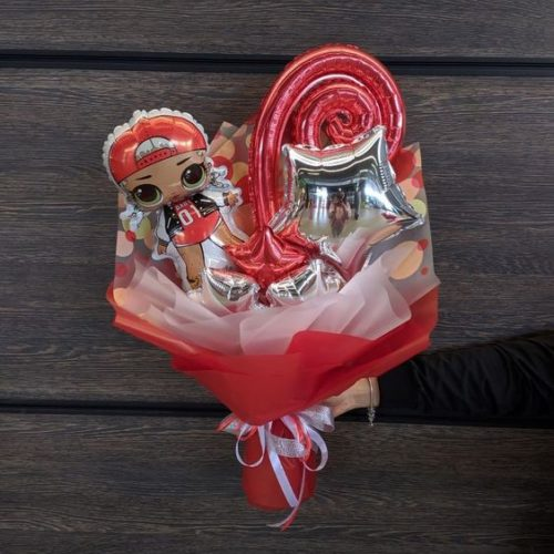Букет из воздушных шаров Кукла ЛОЛ Модная подружка