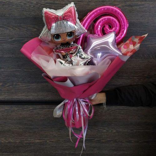 Букет из воздушных шаров Кукла ЛОЛ Роскошная дива