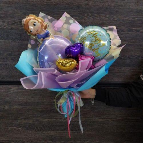 Букет из воздушных шаров Принцесса София