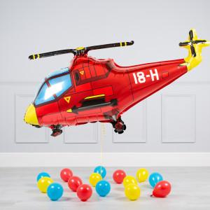Комплект из воздушных шаров Вертолет и шары на пол