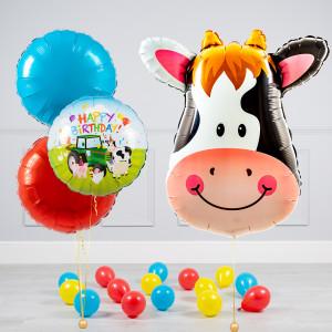 Комплект из воздушных шаров Голова коровы Круги и шары на пол