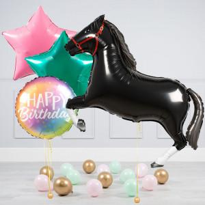 Комплект из воздушных шаров Лошадь Звезды и шары на пол