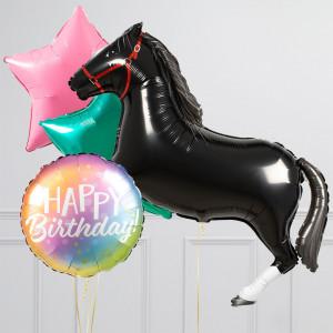 Комплект из воздушных шаров Лошадь и Звезды