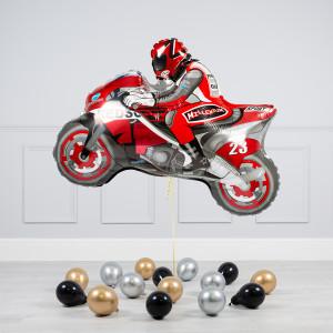 Комплект из воздушных шаров Мотоциклист и шары на пол