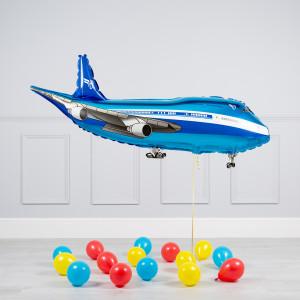 Комплект из воздушных шаров Пассажирский лайнер и шары на пол