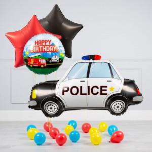 Комплект из воздушных шаров Полицейская машина Звезды и шары на пол