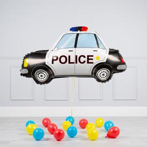 Комплект из воздушных шаров Полицейская машина и шары на пол