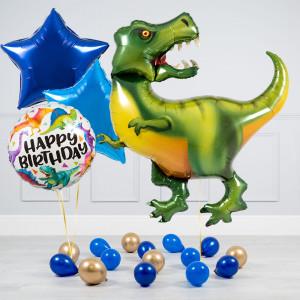 Комплект из воздушных шаров Тираннозавр Звезды и шары на пол