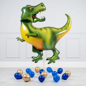 Комплект из воздушных шаров Тираннозавр и шары на пол