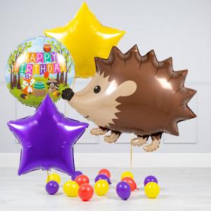 Комплект из шаров Ежик Звезды и шары на пол