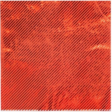 Салфетка 33 см фольга красная 6 штук