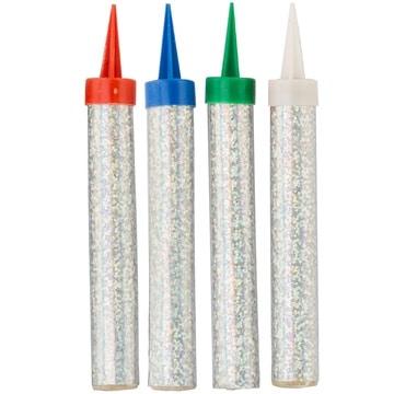 Свеча - Фонтан для торта Цветное Пламя 10 см 30 секунд 4 штуки