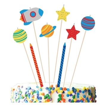 Свечи для торта Космос 8 штук