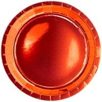 Тарелка 23 см фольга красная 6 штук