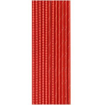 Трубочка для коктейля фольга красная 12 штук