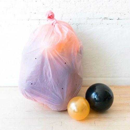 Шары Макси на пол 20 штук Цвет Черный и Золото в пакете