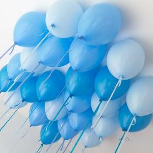 Шары под потолок 25 штук Голубые тона