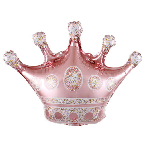 Шар 41 см Мини-фигура Корона Розовое Золото