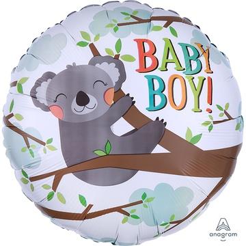 Шар 46 см Круг Baby boy Коала