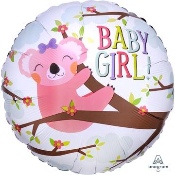 Шар 46 см Круг Baby girl Коала