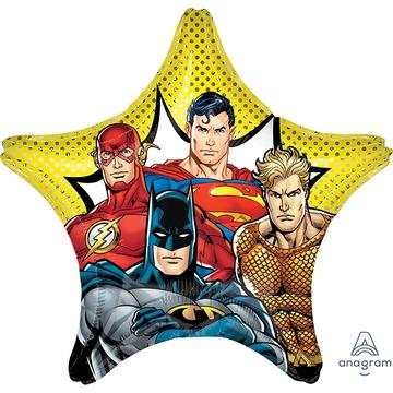 Шар 70 см Звезда Лига справедливости