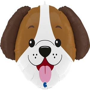 Шар 84 см Фигура Голова Милый щенок