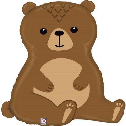 Шар 86 см Фигура Лесной медведь коричневый