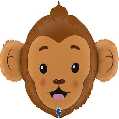 Шар 91 см Фигура Голова обезьяны Мартышка