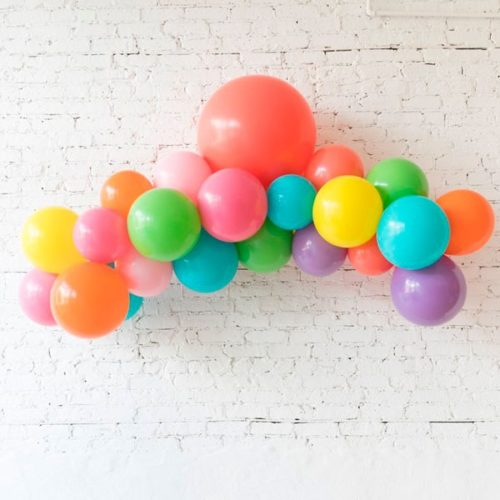 Гирлянда из разных шаров Разноцветная