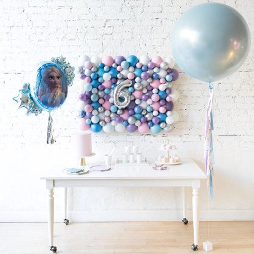 Комплект из воздушных шаров Панно Связка и Шар с Тассел Холодное сердце Перламутровые тона
