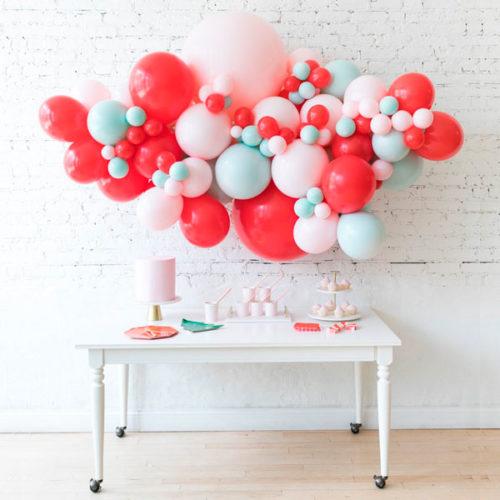 Облако Новый год из воздушных шаров