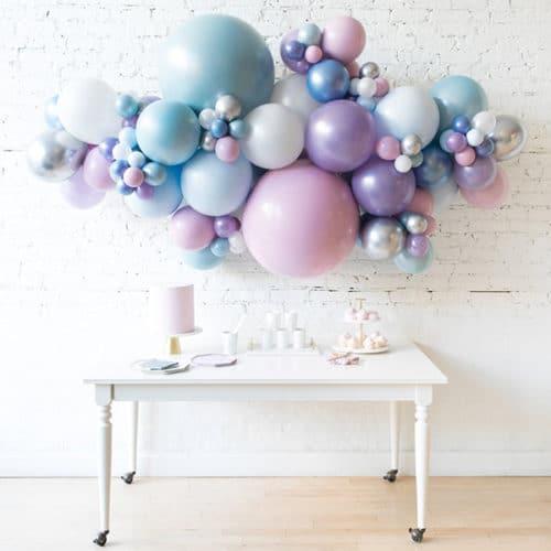 Облако из воздушных шаров Большое Перламутровые тона
