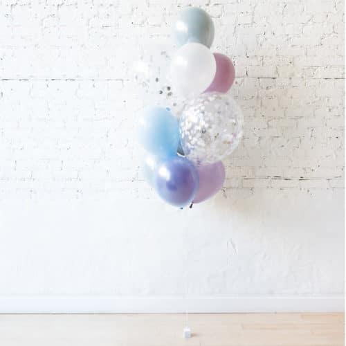 Фонтан из 10 шаров Перламутровые тона с Конфетти