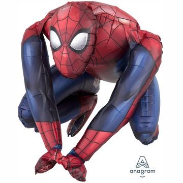 Шар 40 см Фигура с воздухом Человек-Паук сидячий