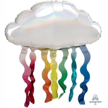 Шар 80 см Фигура Облако с дождиком переливы